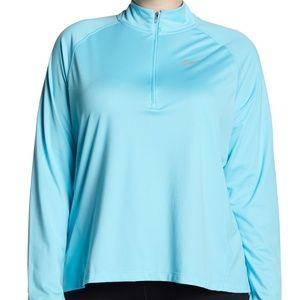 NEW Nike 1X Plus Core Half Zip Pullover Blue Hi-Lo
